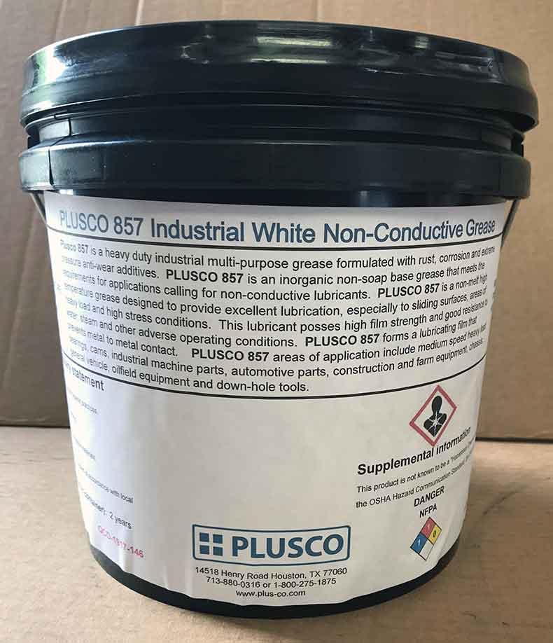 PLUSCO 857 Industrial White Non-Conductive Grease